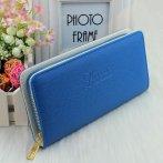 Velká peněženka s texturou, modrá
