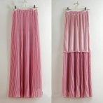 Dlouhá plisovaná sukně, růžová