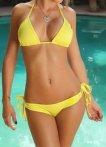 Klasické bikini, žlutá