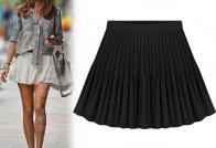 Retro plisovaná sukně, černá