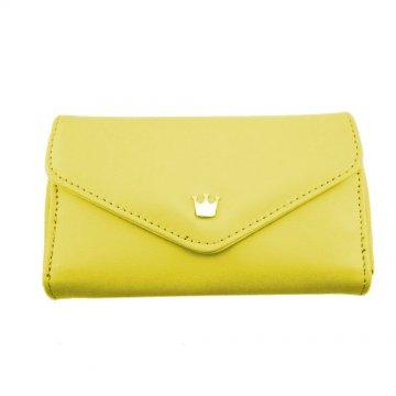 Peněženka s korunkou, žlutá