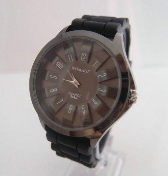 Dámské hodinky se silikonovým páskem, černá