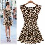 Lehké letní šatičky, leopardí