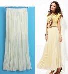 Dlouhá plisovaná sukně, smetanová