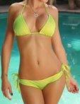 Klasické bikini, zelená