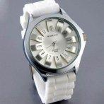 Dámské hodinky se silikonovým páskem, bílá